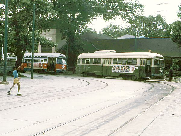 Chestnut Hill Loop, the North terminal of Route 23, in 1981.